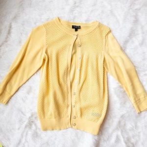 The limited yellow cardigan